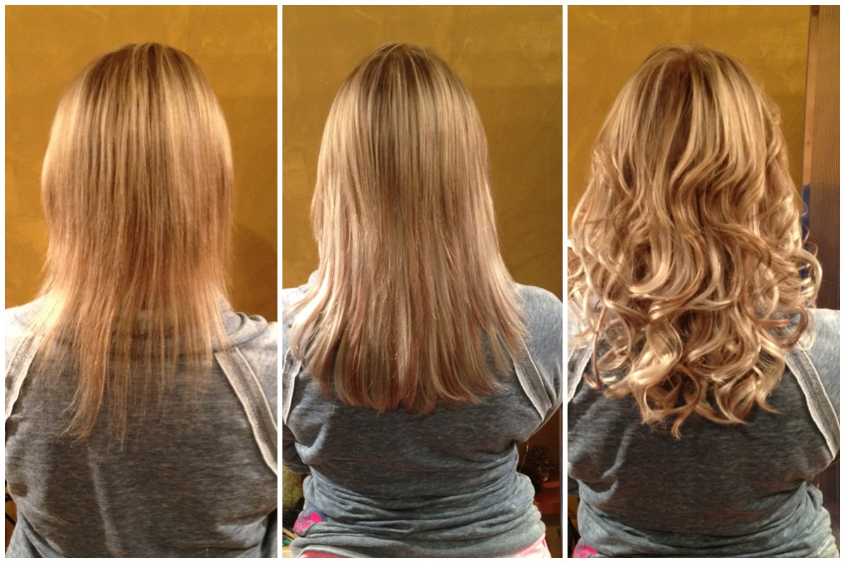 clip in hair extensions before after - indian remy hair